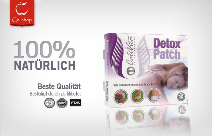 detox patch 12 pflaster calivita shop. Black Bedroom Furniture Sets. Home Design Ideas